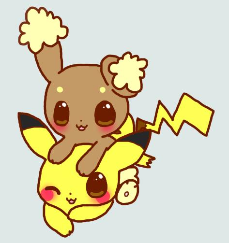 Pikachu x Buneary by cotton-puppy on DeviantArt