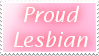 Proud Lesbian Stamp by cotton-puppy