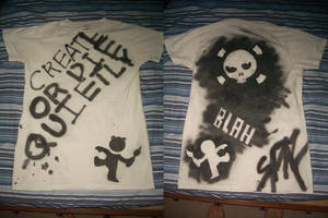 First stenciled shirt by SPAZwastaken