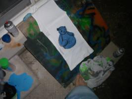 Blues bear by SPAZwastaken