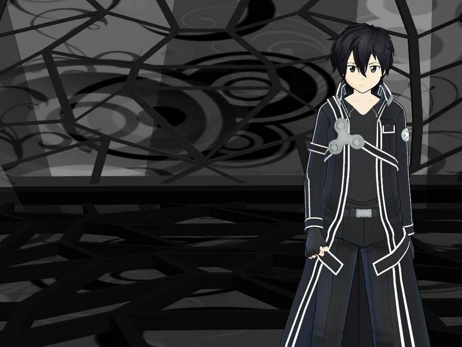 MMD (SAO)Kirito _Black and Gold by animerelax1