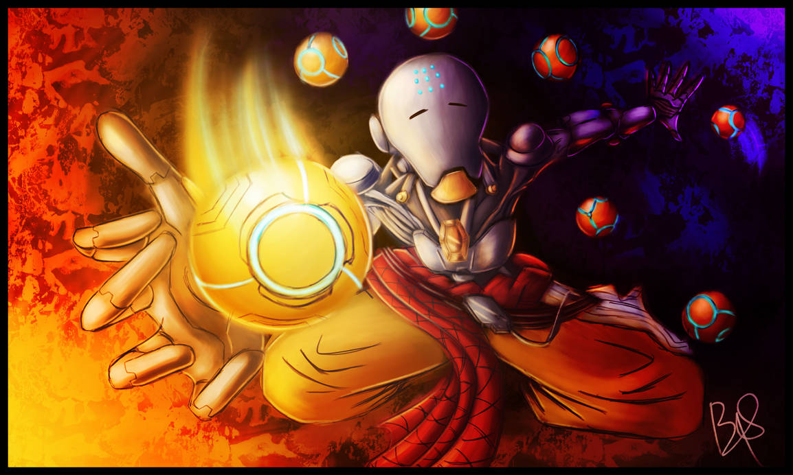 Harmony and Discord (Overwatch Zenyatta) by b1uewhirlwind on