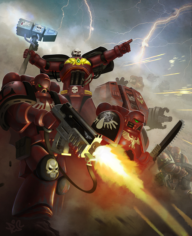 [W40K] Collection d'images : Space Marines Blood_Angels_AGAAAIN_by_IluvRice