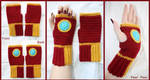 Crochet Iron Man Fingerless Gloves