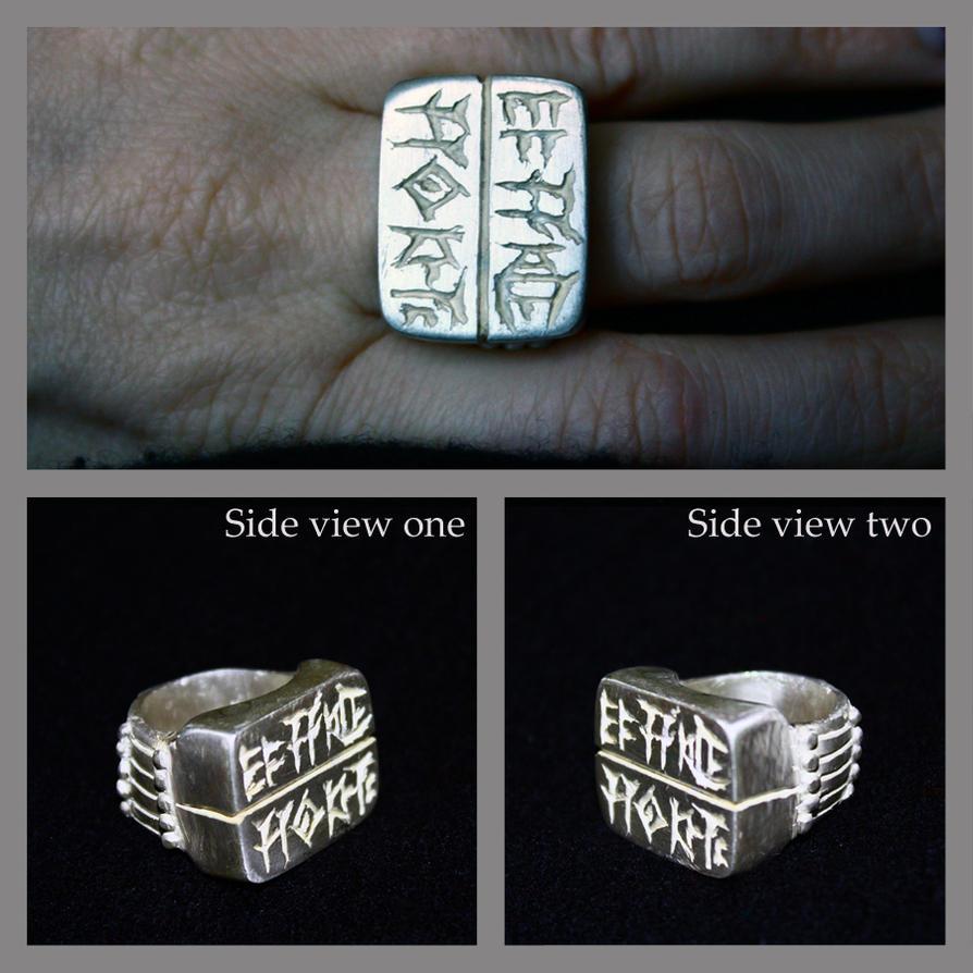 Code of Hammurabi Silver Ring by sapphiresphinx