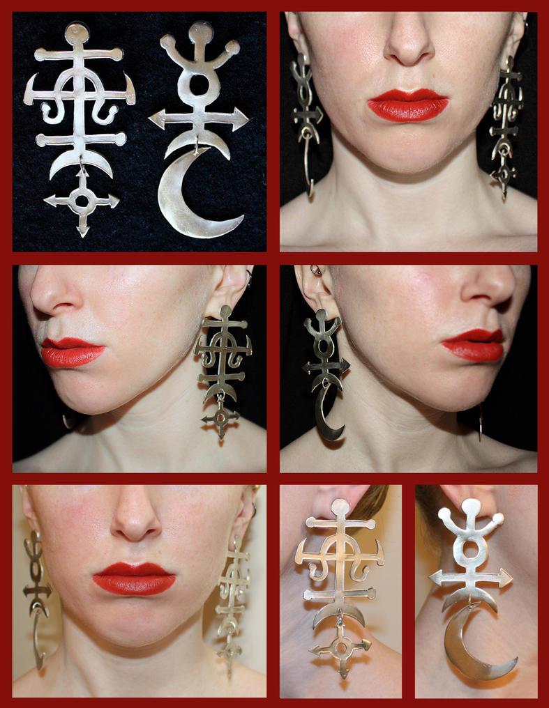 Sterling Silver Alchemy Symbol Earrings by sapphiresphinx