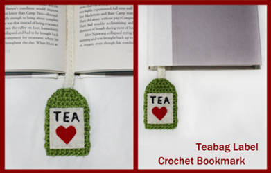 Crochet Teabag Label Bookmark by sapphiresphinx