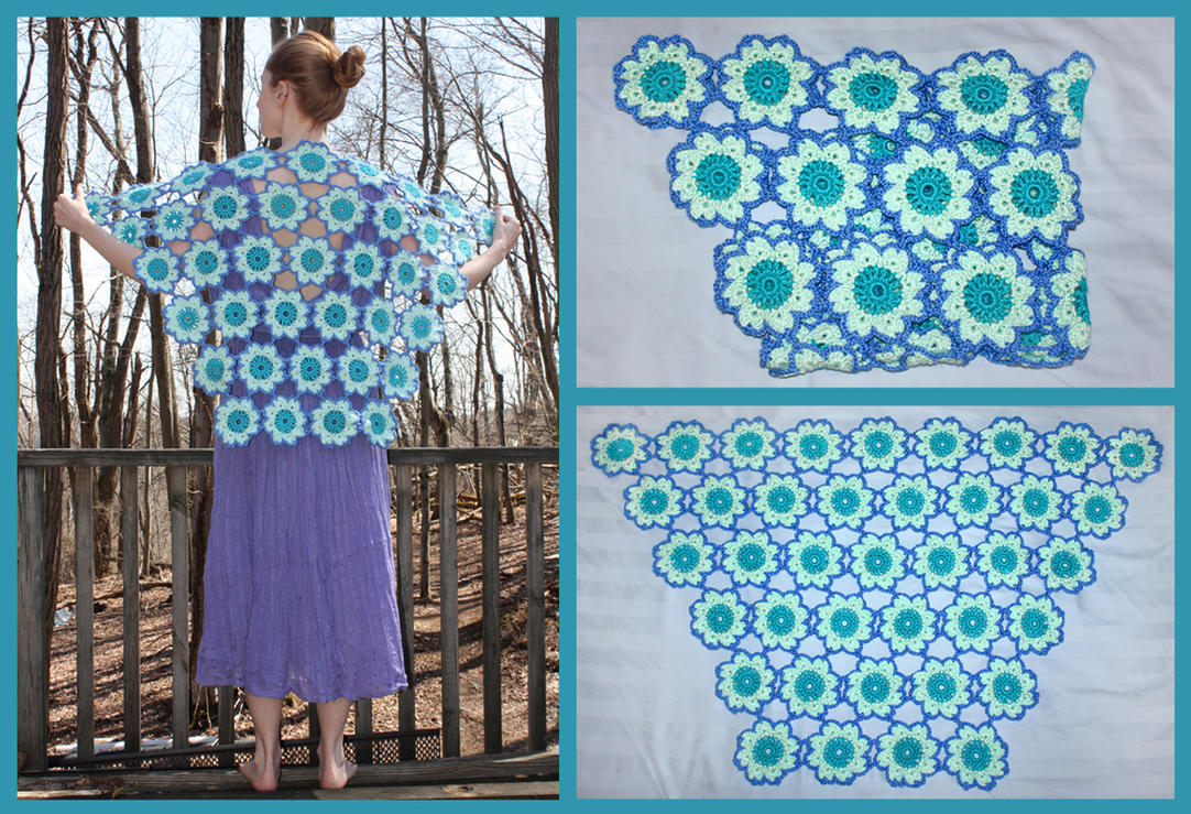 Crochet Spring Flowers Shawl by sapphiresphinx