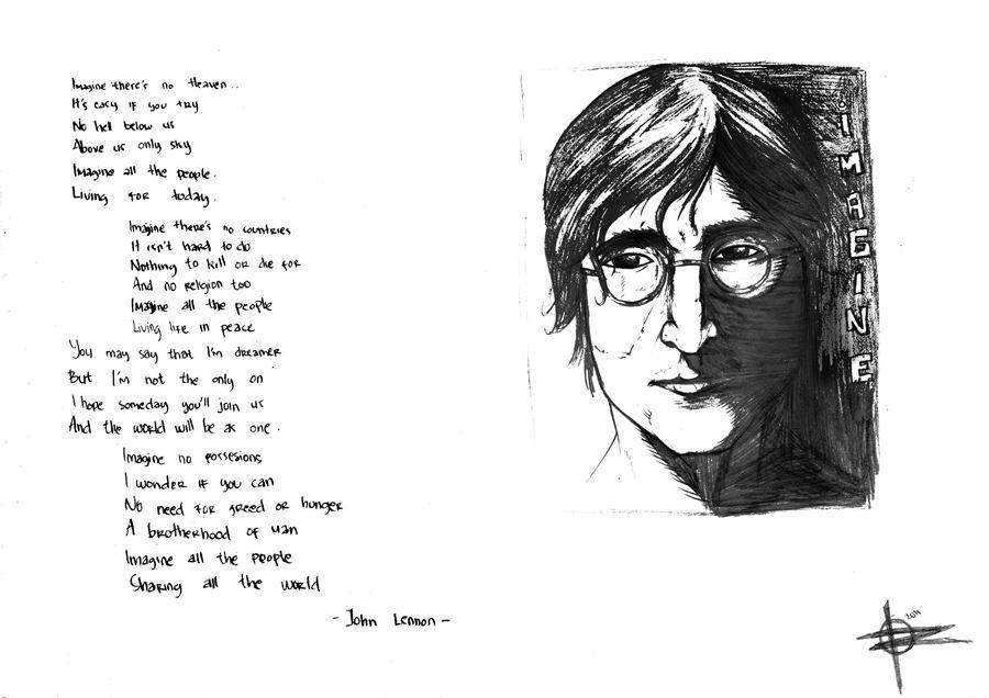Imagine Of John Lennon By Renkga182