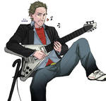 House playing guitar