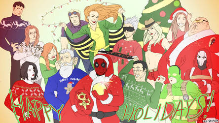 Happy Deadpool Holidays by zer03908