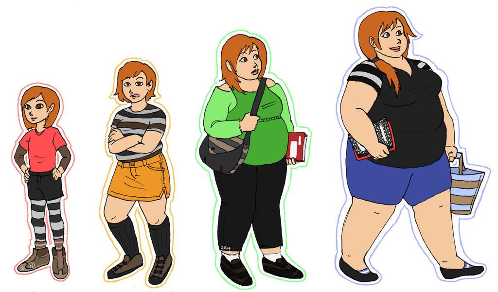 Female Weight Gain Progression