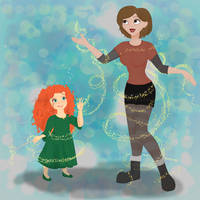 Merida and Penny Age Swap By Camilla1989 by Hillygon