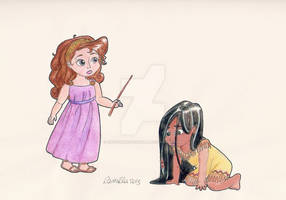 Megara And Pocahontas as Kids By Crystalwaterfall by Hillygon