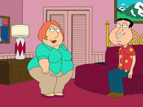 Glenn Quagmire and Lindsey (Color)