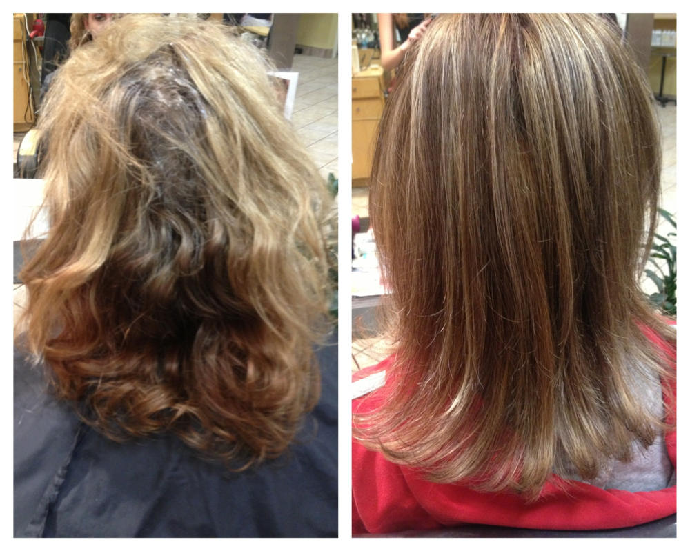 Before And After Aveda Color And Highlights By Hairandnailsbymolly