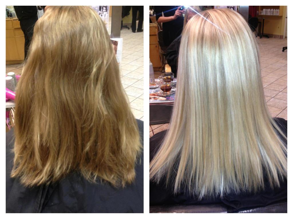 Platinum Blonde Hair Foils