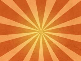 Large Orange Sunburst by R2krw9