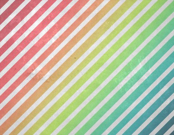 Rainbow Grunge Stripe