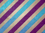 Large Stripe: Plum and Teal
