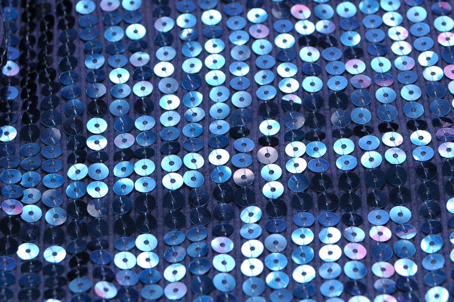 Blue Sequin Fabric 02