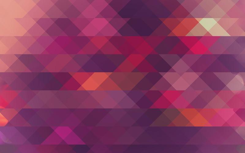 Purple/Orange Triangle Mosaic by R2krw9