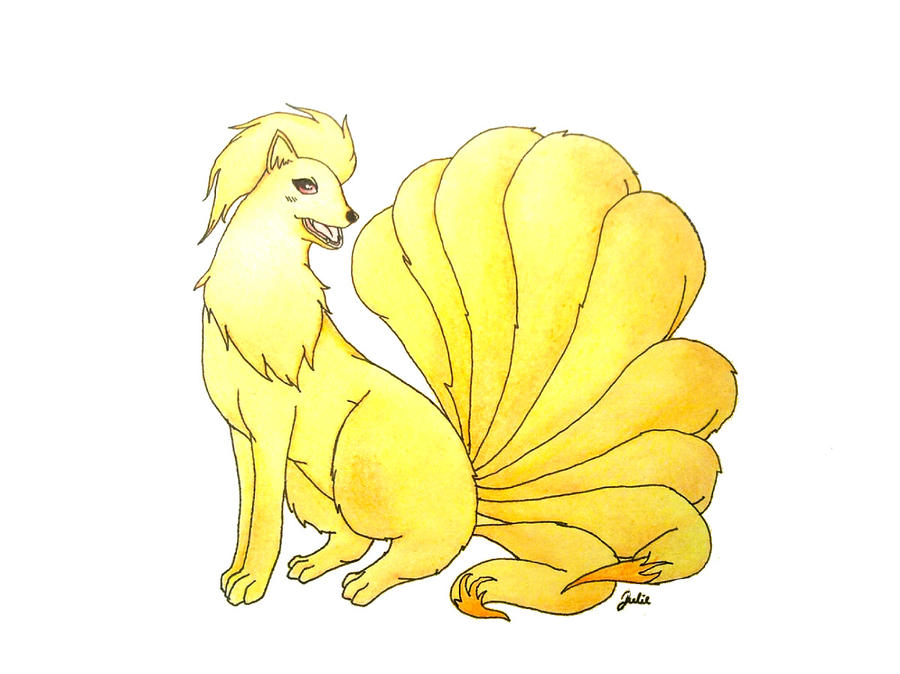 Ninetales by JamminJulie