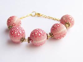 Floral Bead Bracelet by ms-pen
