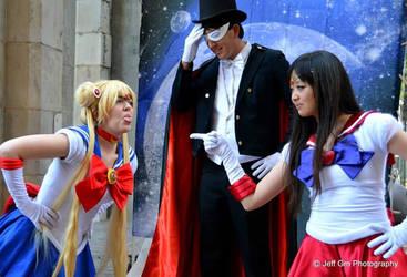 Sailor Moon and Sailor Mars Bickering by JoelXero