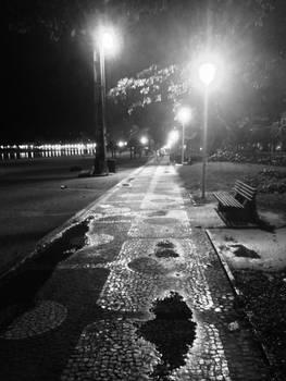 Night stroll at the beach