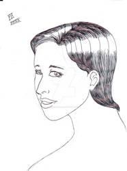 A woman sketch