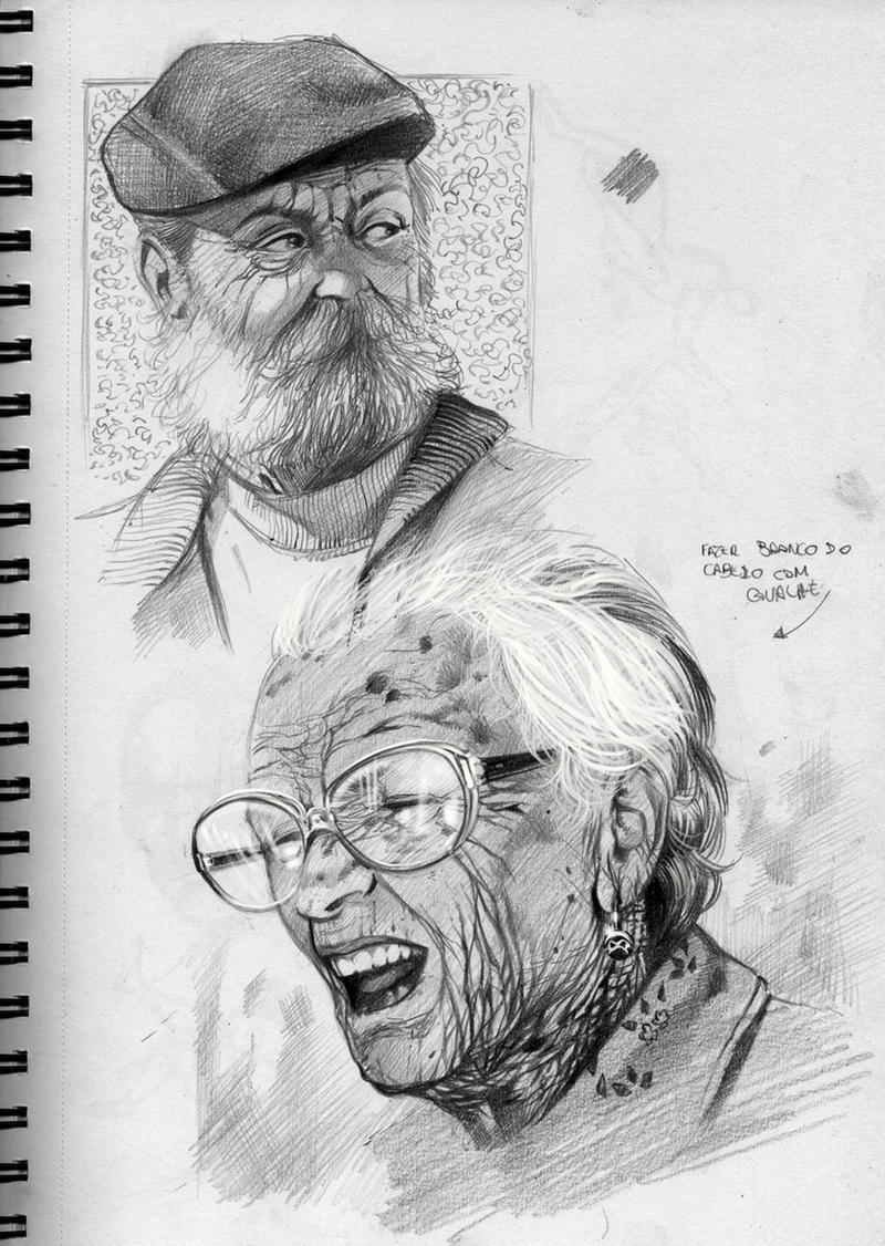 Old People Faces By RodGallery On DeviantArt