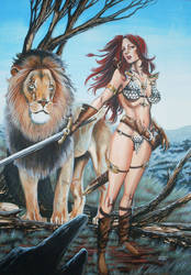 Red Sonja Pin-up by RodGallery