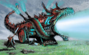 Raging Dragon Cannon by RodGallery