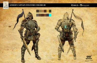 Edge of Twilight - Athern Captain Infantry by RodGallery
