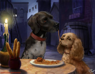 Lady and the Tramp by umetnica