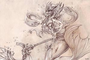 Nami Zombie - League of legends by o0dzaka0o