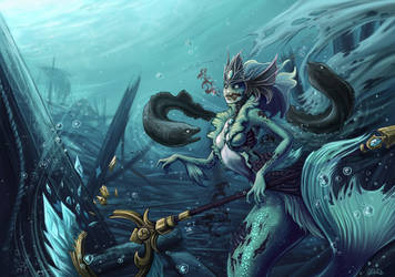 Nami The zombie mermaid - League of legends by o0dzaka0o