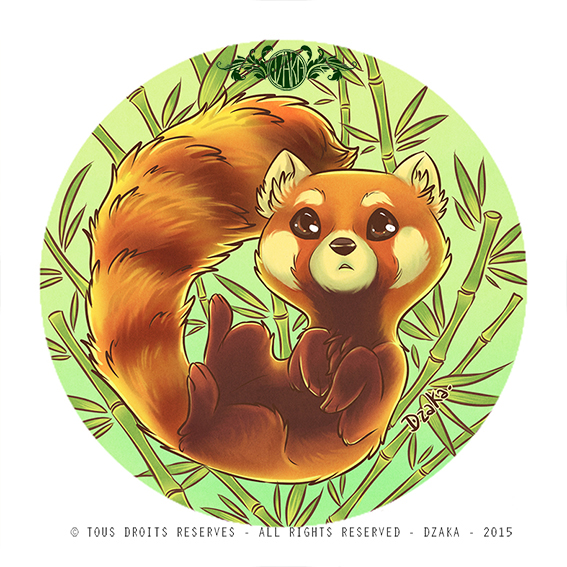 Panda roux firefox by o0dzaka0o on deviantart - Panda roux dessin ...