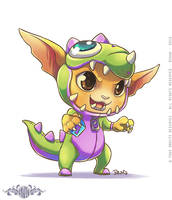 Dino Gnar - Fanart League of Legends by o0dzaka0o
