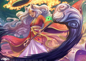 Okami Amaterasu forme Humaine - Fanart by o0dzaka0o