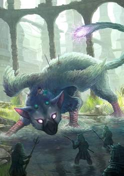 Fanart The Last Guardian - Fight