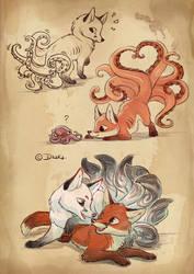 Kitsune Octopus by o0dzaka0o