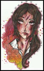 |A Forgotten Goddess|(AoT fanart: Ymir) by LaReina-QuyaKoroleva