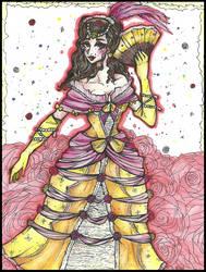 |Mademoiselle, la Reine des Roses| (Disney: Belle) by LaReina-QuyaKoroleva