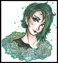|Green Lady| (friend) by LaReina-QuyaKoroleva