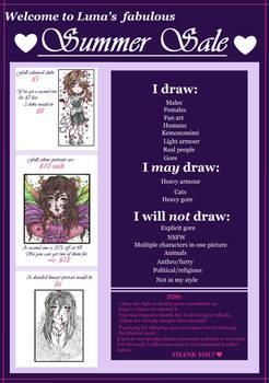 Summer Commissions Sheet
