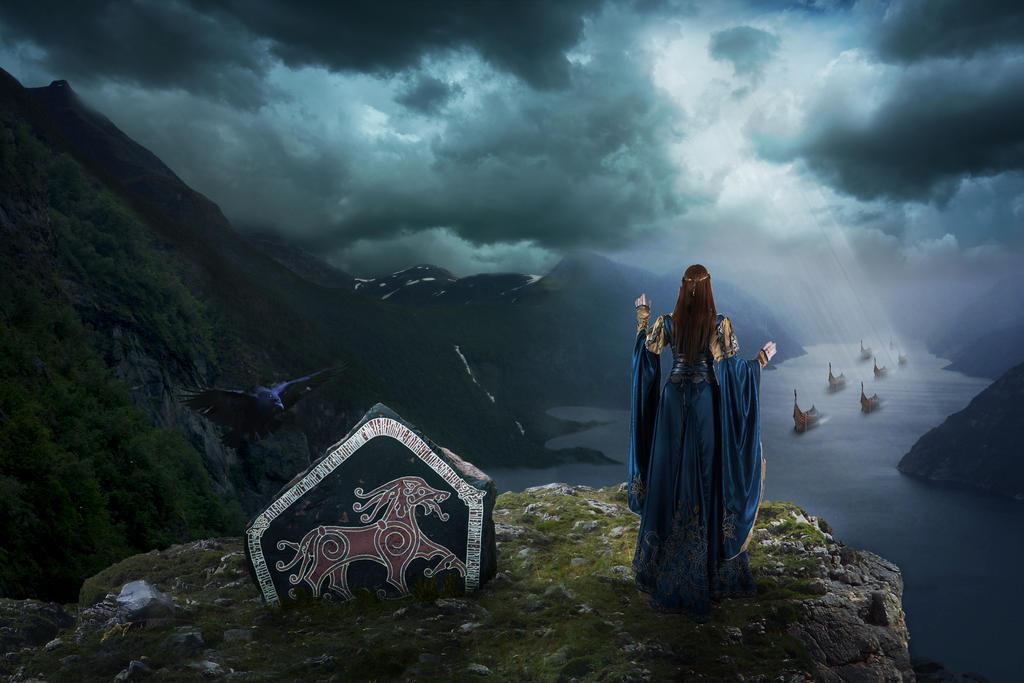 Met. Ancient epic Scandinavians by MariaSemelevich