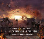 Create an Epic Scene of Alien Invasion
