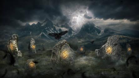 Precursor of Ragnarok (the Great Fire) by MariaSemelevich
